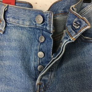 LEVI'S Women's 501 Button Fly Tapered Jeans NWT